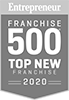 Entrepreneur Franchise 500 Top New Franchise 2020 Badge