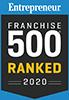 Entrepreneur Franchise 500 Ranked for 2020 Badge
