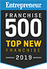 Entrepreneur Franchise 500 Top New Franchise 2019 Badge