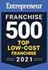 Entrepreneur Franchise 500 Top Low-Cost Franchise 2021 Badge