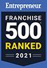 Entrepreneur Franchise 500 Ranked for 2021 Badge