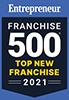 Entrepreneur Franchise 500 Top New Franchise 2021 Badge