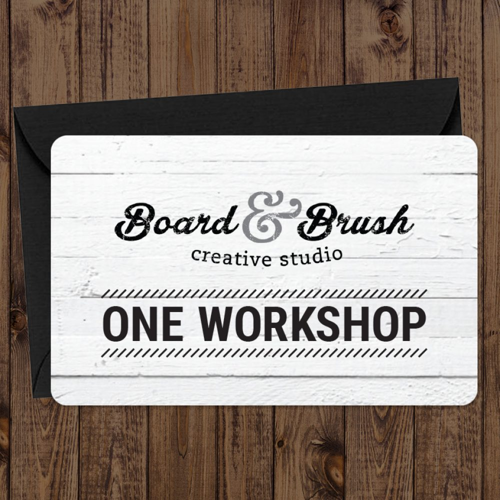 Board and Brush Gift Cards | Good for One Free Gift Card