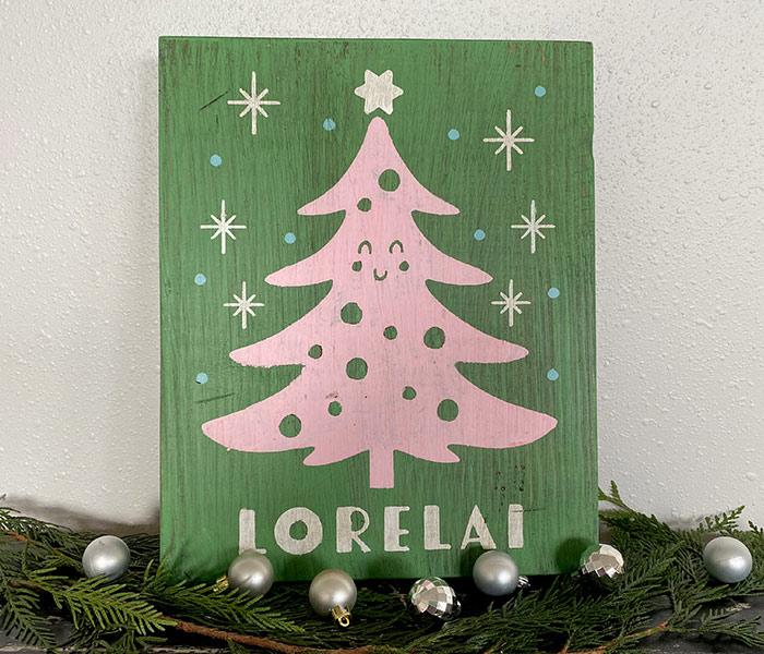Happy Christmas Tree - 12x14