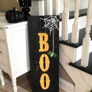 Halloween Boo Wood Sign
