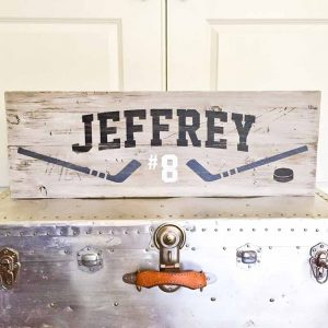 Hockey Themed Wooden Signs