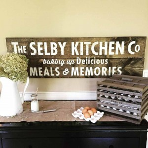 Vintage Kitchen Sign Made From Real Wood