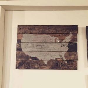 Rustic US Wooden Sign Art