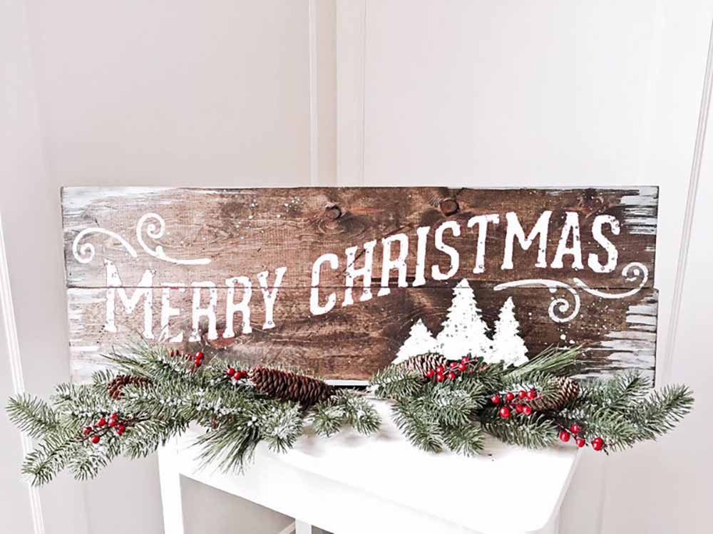 merry christmas wood sign making classes