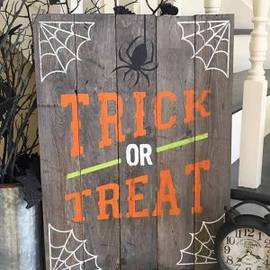 Trick or Treat Wooden Halloween Sign