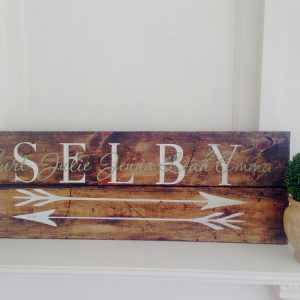 Wooden Family Name Arrow Signs