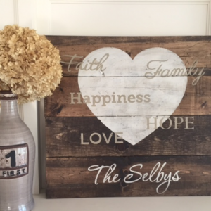 Family Inspired Wooden Signs