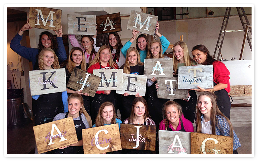 Wood Sign Workshop - Private Teen Parties