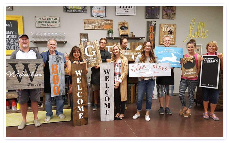 DIY Sign kit make your own sign sign party craft sip and sign team building craft