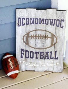 Personalized Football Wood Signs