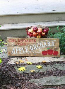 Apple Orchard Wooden Name DIY Wood Sign Workshop