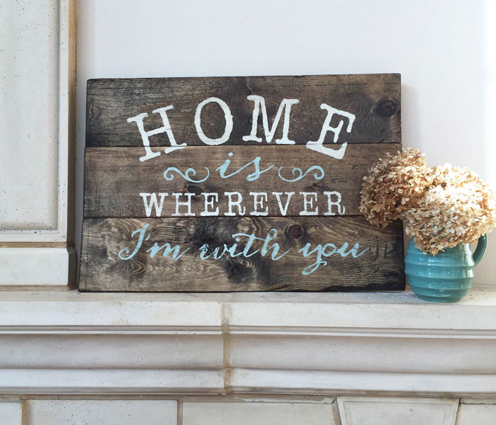 Home Is Wherever I M With You Wood Sign Home Decor: Home Is Wherever I'm With You