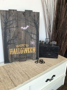 Spooky Forest Halloween Wood Sign