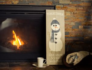 Together Snowman Wood Sign