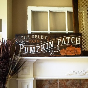 Personalized Pumpkin Patch Wooden Signs