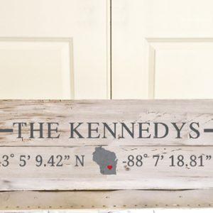 Home Coordinates DIY Wood Sign Workshop