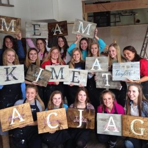 Board & Brush Workshop Wood Sign Class