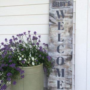 Porch Welcome DIY Wood Sign Workshop
