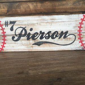 Wooden Baseball Sign Workshop
