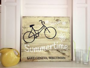 Sweet Summertime - Bicycle Wooden Sign