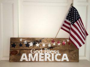 God Bless America Wood Sign Class
