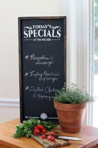 Chalkboard Menu - Kitchen Wooden Sign