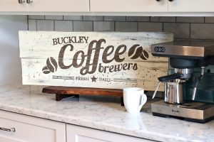 Wooden Coffee Sign - Wood Sign Workshop