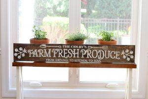 Fresh Produce - Wood Sign Class
