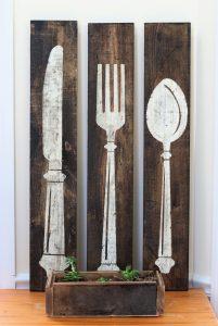 Knife, Fork, Spoon - Wooden Sign Workshops