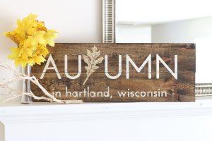 Autumn Wood Sign Workshop