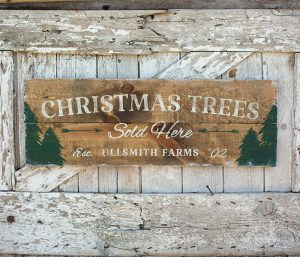 Christmas Trees Sold Here Wood Sign