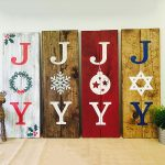 Christmas Joy Wooden Signs