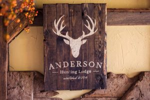 Custom Wood Signs With Hunting Theme