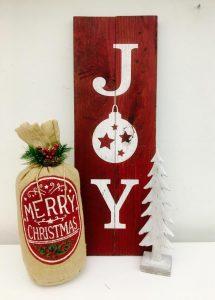 Wooden Joy Sign