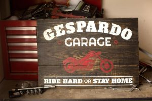 Wooden Motorcycle Signs
