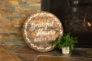 Grateful Hearts Wooden Signs