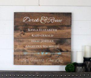 Blended Family Wooden Sign Making Workshop