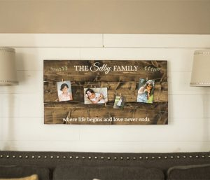 Wooden Family Picture Holder