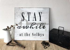 Stay a While Wood Sign Workshop