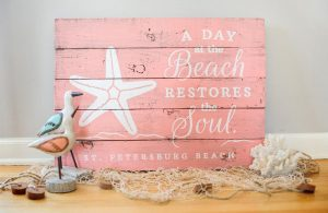 Day at the Beach Wood Sign