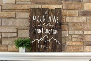 Mountains are Calling Wood Sign Workshop