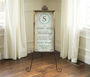 Wood Wedding Invite Signs
