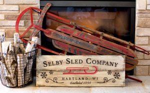 Sled Company Wood Sign