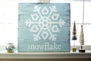 Snowflake Wood Signs