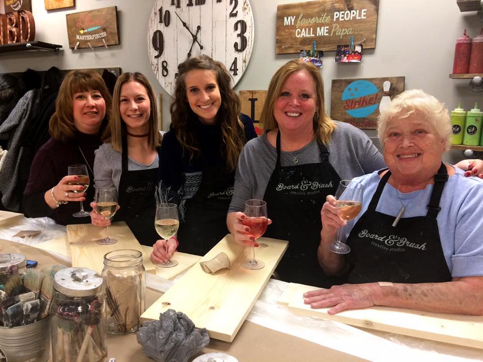 Wine & Paint Wood Sign Workshop